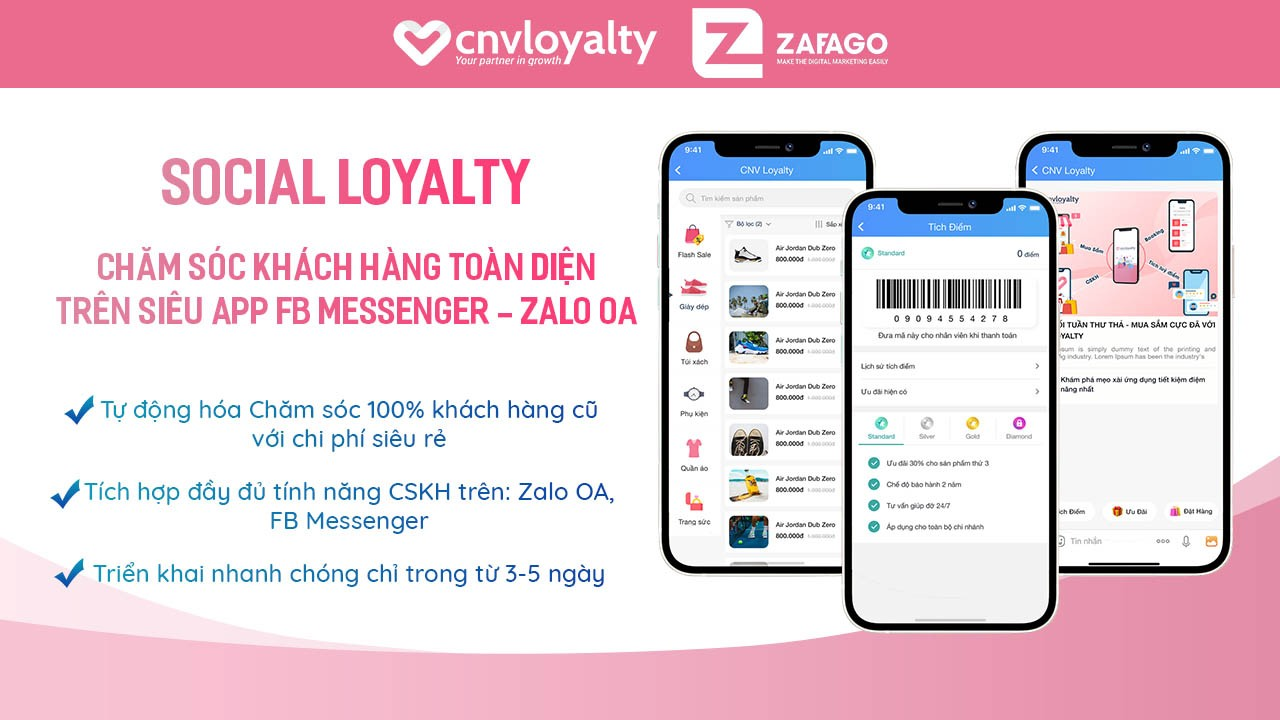 Social Loyalty trên Zalo
