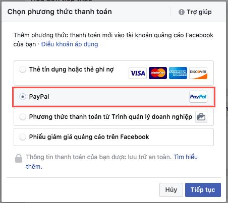 Cách thanh toán quảng cáo Facebook
